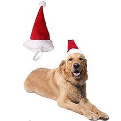 Sombrero de Mascota Suministros para mascotas Navidad perro tiara Gatos y perros Sombrero de Navidad para mascotas (L)
