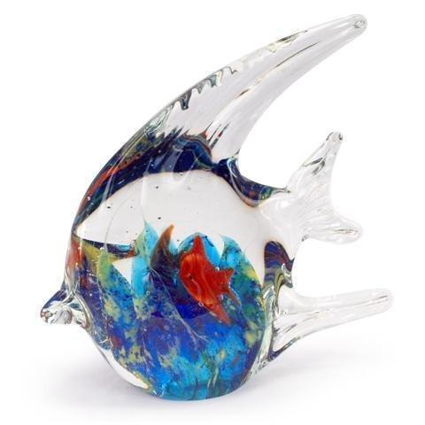 Figura Cristal Pez Azul 15 cm