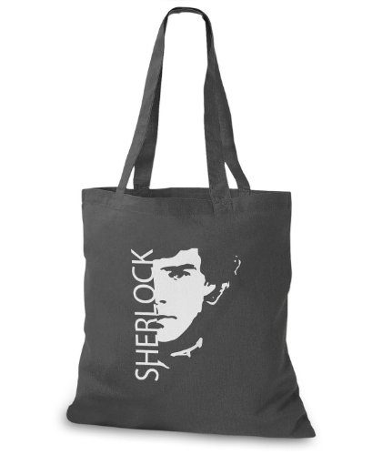 StyloBags Jutebeutel / Tasche Sherlock Darkgrey