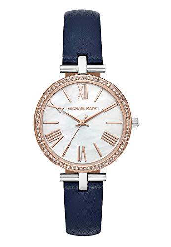 Michael Kors Damen Analog Quarz Uhr mit Leder Armband MK2833
