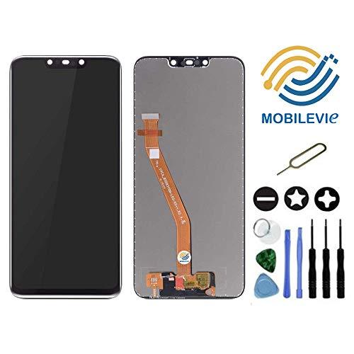 Mobilevie Touchscreen + LCD Bildschirm Original Darlehen-A-Mount für Huawei Mate 20 Lite Schwarz + Werkzeug -