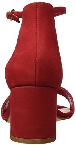 Aldo Villarosa, Sandales Bout Ouvert Femme Rouge (62 Red)