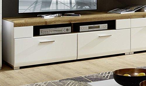 Stella Trading Fun Plus TV-Lowboard, TV-Bank, Holzdekor, weiss, (B/H/T) 140 x 51 x 47 cm