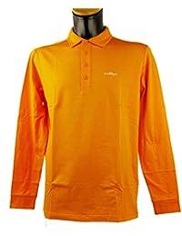 ba8386d5ccf57 Chervo Herren Polo Golfpolo lang Arm Comfort Aurucon orange 365
