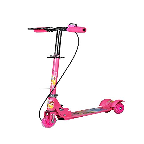 Kagvad 3 Wheeler Scooter Ride Ons With Height Adjustable & Foldable For Boys & Girls Cycle/Runner/Rider(Pink)