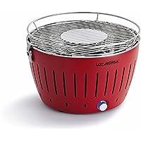 Lotus Grill Barbacoa de humo con ventilador turbo para calor rápido en Blazing Red