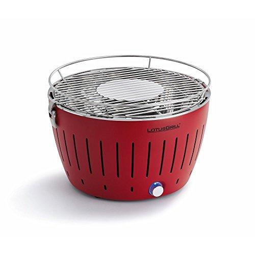 Lotusgrill Grill mit Ventilator, schnell aufheizend, rauchfrei, Rot (Blazing Red)