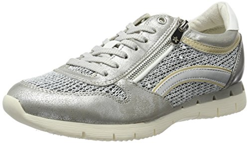 Marco Tozzi 23702 Damen Sneakers Grau (GREY METALLIC 297)