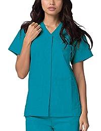 Adar Uniformi Mediche Camice da Donna Parte Superiore Infermiera Ospedale da Lavoro