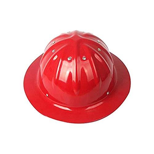 LMLSHAQM Schutzhelm - Bauarbeiterhelm Mit Verstellbarem Helm - Bauarbeiterhelm Aluminium-Bauarbeiterhelm (Color : Red)