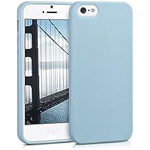kwmobile Funda para Apple iPhone SE / 5 / 5S - Case para móvil en TPU silicona - Cover trasero en azul claro mate