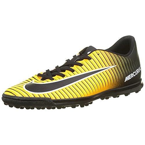 Nike Jr Mercurial Vortex II FG-R, Chaussures de Sport Fille, Violet/Noir/Jaune/Blanc (Urbn Lilas/Blk-Brght Gest-Blanc), 38 1/2 EU
