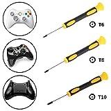 Juego Destornillador, dezirZJJx T6 T8 T10 Juego Destornillador Herramienta de reparación para Nintendo Xbox 360 PS3/PS4 Controlador – T6