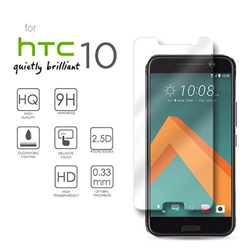 Hartglas Schutzfolie HTC 10, eProte® ultraslanke Gehärtetem Glass Folie für HTC 10, 5,2 Zoll - 9H Glashärte, Anti-Schock, Kratzfeste und Ölabweisende Beschichtung, Einfach zu säubern, HD Transparenz und Feingefühl