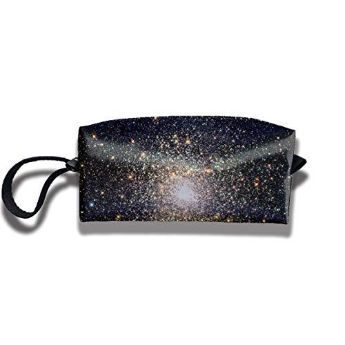 Doinh The Bright Center of A Star Cluster Kleine Kosmetiktasche Reisetasche mit Reißverschluss, wasserdichte Aufbewahrungstasche tragbare Kosmetiktasche Pailletten Tasche für Mädchen