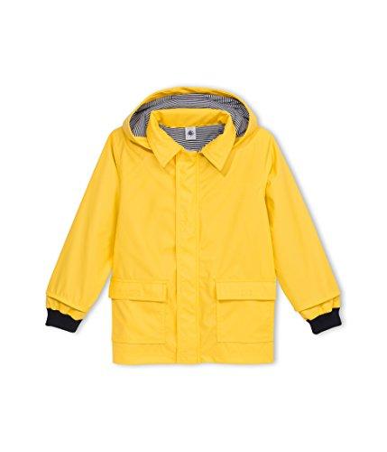 Petit Bateau - Manteau imperméable - Uni - À capuche - Manches longues - Fille, Jaune, FR : 8 ans (Taill Fabricant : 8 ans)