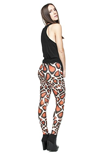 Femmes Mesdames Leggings Longueur complet extensible Collants Pantalon pour ne pas voir à travers Fitness Yoga Running Hipster UK 81012 Multicolore - BABY GIRAFFE