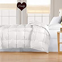 Coozly 300 TC 100% Cotton Duvet | Comforter with Soft 350 GSM Coozly SleepCare Filling. (Double, White)