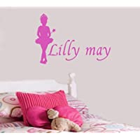 Wall Art Desire® Personalised Ballerina Princess Wall Sticker, Any Name, 24 Colours to Choose