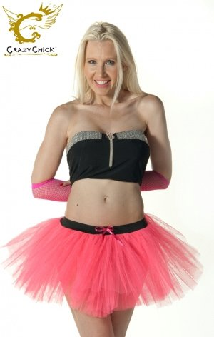 Crazy Chick 3 Layers Neon Pink Tutu Skirt - Size UK 6 to 14