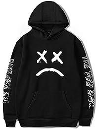 SIMYJOY Unisex Lil Peep Hoodie Emo Rap Coole Pullover Crybaby Spotlight Straßen Fashion Sweatshirt Für Männer Frauen Mädchen und Jugenden