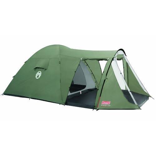 410XOe7TB8L. SS500  - Coleman 5+ Trailblazer Tenda Tent, Green/Grey, 5 Person