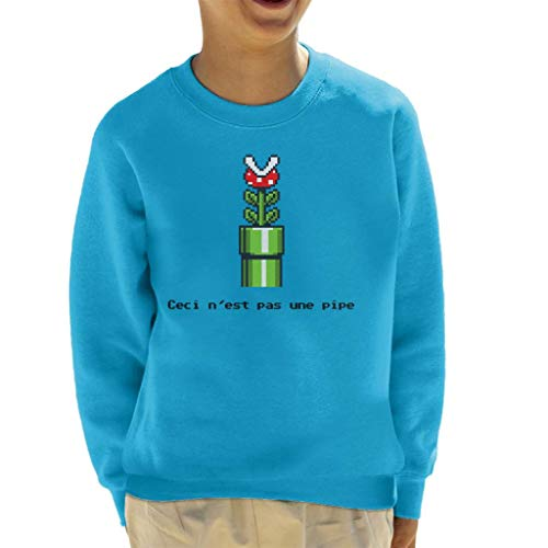 This is Not A Pipe Super Mario Kid\'s Sweatshirt