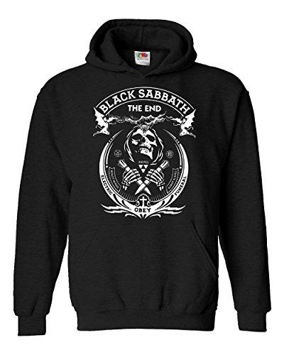 "Felpa Unisex ""Black Sabbath"" - The End - Felpa con cappuccio rock band LaMAGLIERIA, M, Nero"