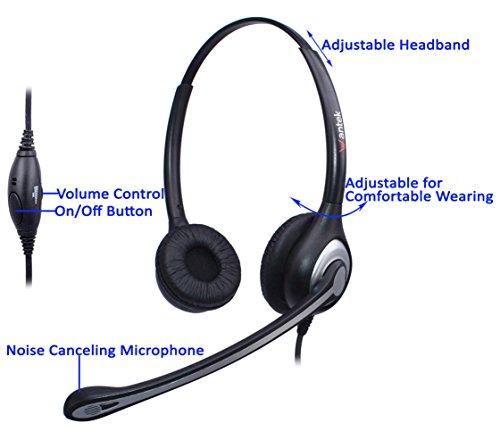 wantek handy headset binaurale mit noise cancelling. Black Bedroom Furniture Sets. Home Design Ideas