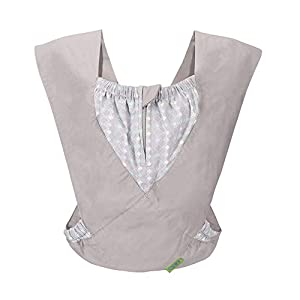 Cuby Best Organic Baby Carrier Cozy Cotton Baby Wrap X-Type Newborn Baby Sling Portabebe Ergonomica Kanguru Baby Carrier Rated (New Silver) Ferrino  5