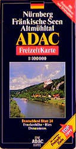 ADAC FreizeitKarte, Bl.24, Nürnberg, Fränkische Seen, Altmühltal (ADAC Freizeitkarten)