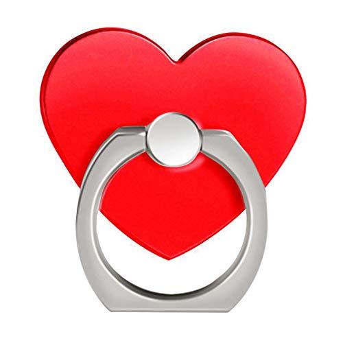 Zerama Herz-Telefon-Ring-Halter Spinner Ring Ständer 360-Grad-Drehung Wiederverwendbare Telefon Grip Ständer Grip Berg -