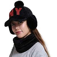 China Show Creativas de Invierno Sombrero con de oído de Cobertura de Warmer emporgeragter Tapas de Tipo de y Forma de béisbol Sombrero Negro