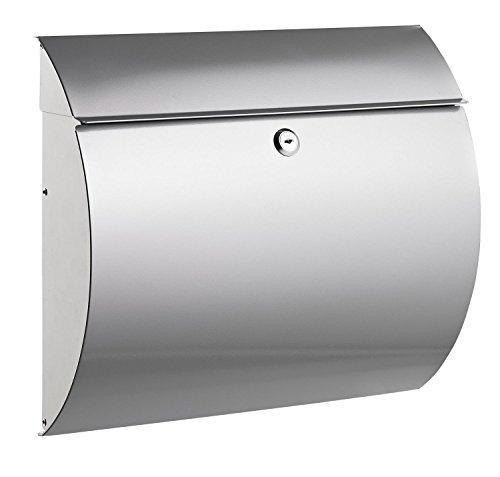 Alco 8607 Boîte aux lettres en métal argenté env. 37,5 x 33 x e1c9be8a6965