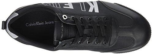 Calvin Klein welby Smooth/Nylon, Baskets Homme Noir (Black)