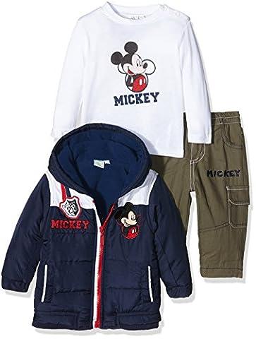 Disney Mickey Mouse Clothing Set, Ensemble Bébé Garçon, Bleu-Bleu Marine, 3-6 Mois (Taille Fabricant:6 Mois)
