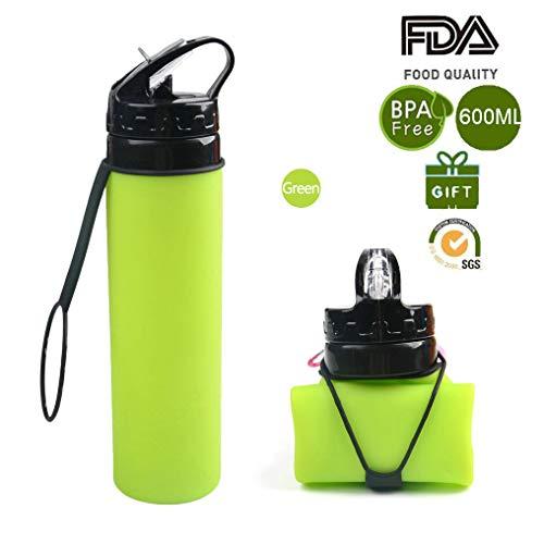 Zimingu Faltbare Wasserflasche,Faltbare Trinkflasche Auslaufsichere Sportflasche
