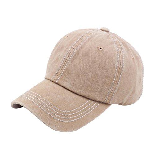 Bomber Classic Hut (Sansee Vintage Papa Hüte Twill Baumwolle Baseball Baskenmütze Cap Vintage einstellbare Papa Hut Mütze Kopfbedeckung (Khaki, H-131))
