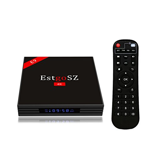 [2018 TV Box] EstgoSZ Android 7.1 Smart TV Box 4GB RAM 64GB RAM RK3328 Quad Core 64 Bit CPU Bluetooth 4.0 Dual WiFi 2.4G /5.0G 100M LAN H.265 3D 4K Ultra HD TV