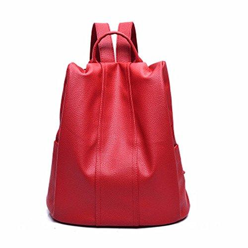 Tasche pu Doppelzimmer 31 15 cm Schultertasche 34 Tasche soft Rot Stilvolle BIHgwqw