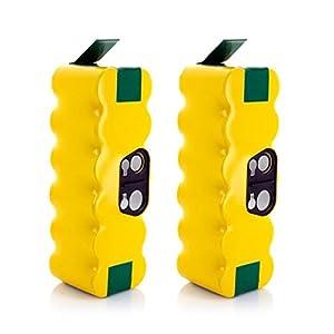 Batteria iRobot Roomba, Morpilot 2 pcs Batteria di Ricambio Ni-MH 3800mAh per Aspirapolvere iRobot Roomba Serie 500 600 700 800 R3 80501 4419696 e Scooba 450