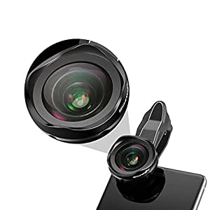 BlitzWolf Phone Lens Kit 120 ° Wide Angle Lens Universal Professional HD Camera Lens Kit with Clip for iPhone 7 7 plus 6 6s 6s plus 5s iPad Samsung Galaxy s8 s6 Sony Android Phone
