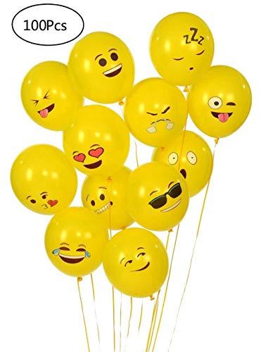 YueChen Emoji Globos, Color Partido Globos de Fiesta para la Fiesta de...