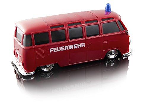 RC Spielzeug kaufen Spielzeug Bild 1: Maisto Tech R/C VW Bus Feuerwehr: Ferngesteuertes Auto mit Licht & Sound, Maßstab 1:24, Pistolengriff-Fernsteuerung, 5.8 km/h, 20 cm, rot (582091F)*