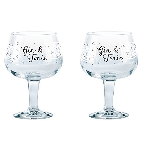 Durobor Gusto Dekoriert Spanisch Ballon Copa Gin and Tonic Glasses - 660ml - 2er Pack