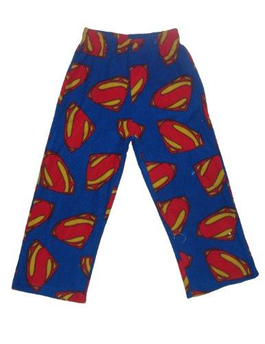 Superman Jungen Herbst / Winter Polar Fleece Nachtwäsche / Pyjama-Hosen 6/7 Multicolor (Jungen Pyjama-hosen Fleece)