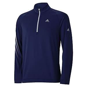 2015 Adidas 3-Stripes Half Zip Fleece Logo Chest and Sleeve Training Top Mens Golf Cover-Up Midnight Indigo XXL