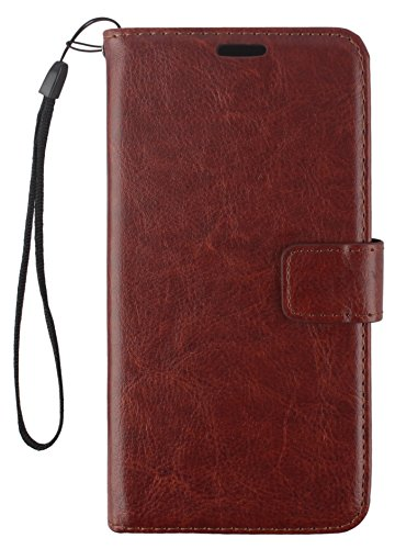 CASSIEY® XiaoMi Mi Max 2 6.44inch Flip Cover Case Executive Business : Inner Soft TPU, Premium Leather, Magnetic Lock, Wallet, Stand, Brown