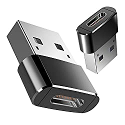USB C to USB Male Adapter, Acessorz Mini Hi-speed USB C Female (Type-C) to USB A Male (Type-A) Fast Charging Sync Connector Converter OTG Adapter for Laptop / Wall Car Charger with USB A Interface