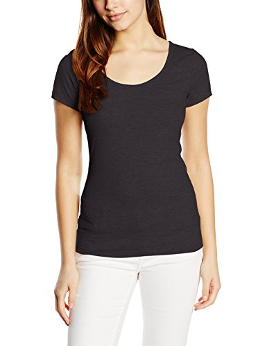 VERO MODA Damen T-Shirt Vmmaxi My SS Soft U - Neck NOOS, Einfarbig, Gr. 38 (Herstellergröße: M), Schwarz Black